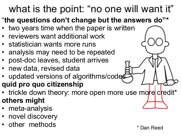 """what is the point: """"no one will want it"""" """"the questions don't change but the answers do""""* • two years time when the paper ..."""
