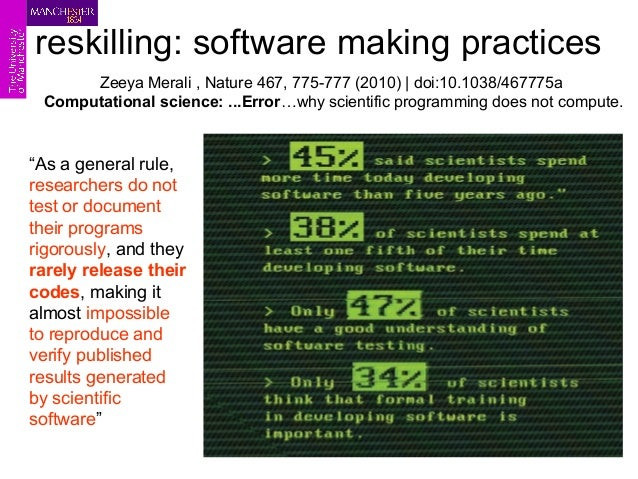 a word on reinventing Sean Eddy  author HMMER and Infernal software suites for sequence analysis  innovation is algorithms...