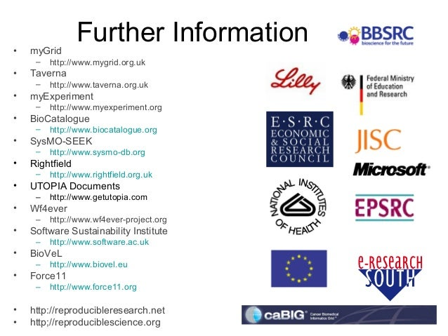 ISMB/ECCB 2013 Keynote Goble Results may vary: what is reproducible? why do open science and  who gets the credit?