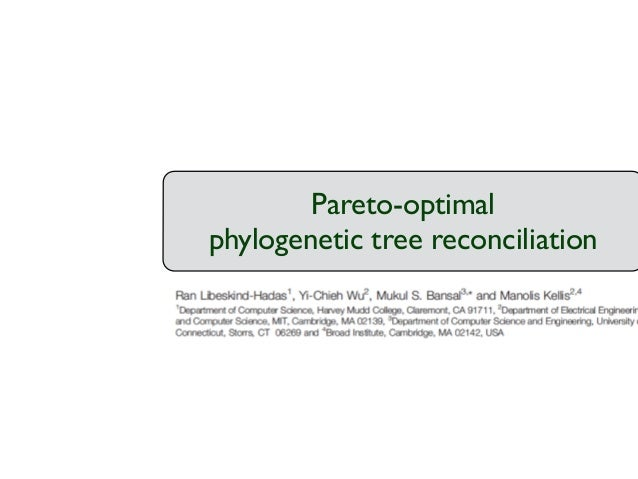 Pareto-optimal  phylogenetic tree reconciliation