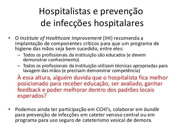 Hospitalistas, reconhecimento de risco e capacidade de resposta a alterações na condição do paciente Medicina hospitalar v...