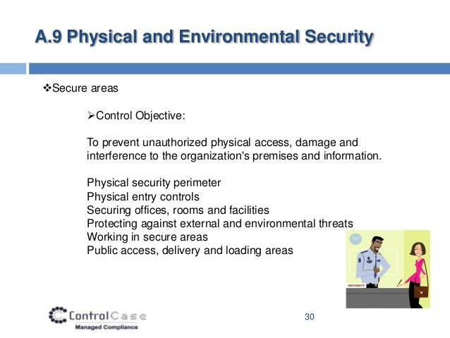 30 a9 physical and environmental securitysecure