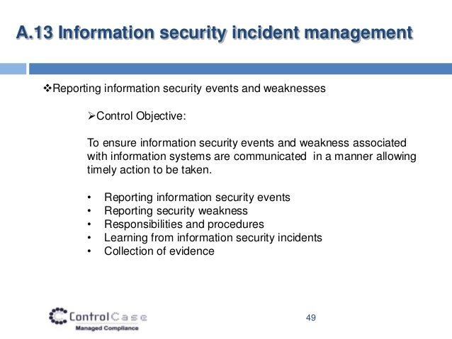 incident management policy and procedure