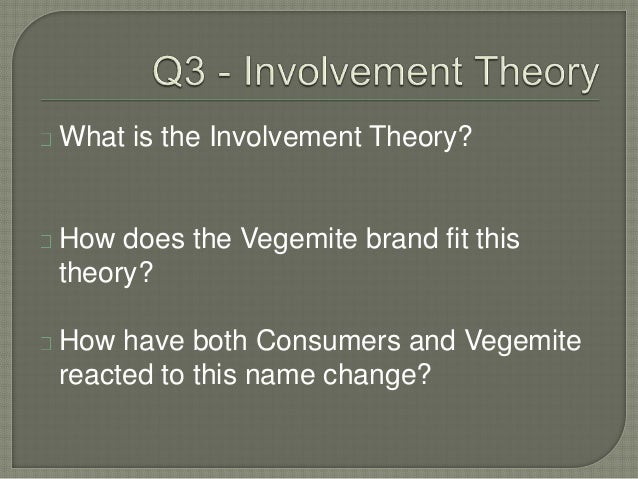 vegemite involvement theory Isnack 20 case analysis - lack of cultural exposure towards kraft reduced sales for vegemite - kraft needed to innovate, decided on creating a new product.