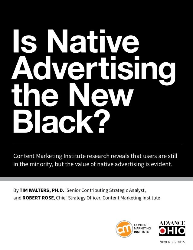 Content Marketing Institute research reveals that users are still in the minority, but the value of native advertising is ...