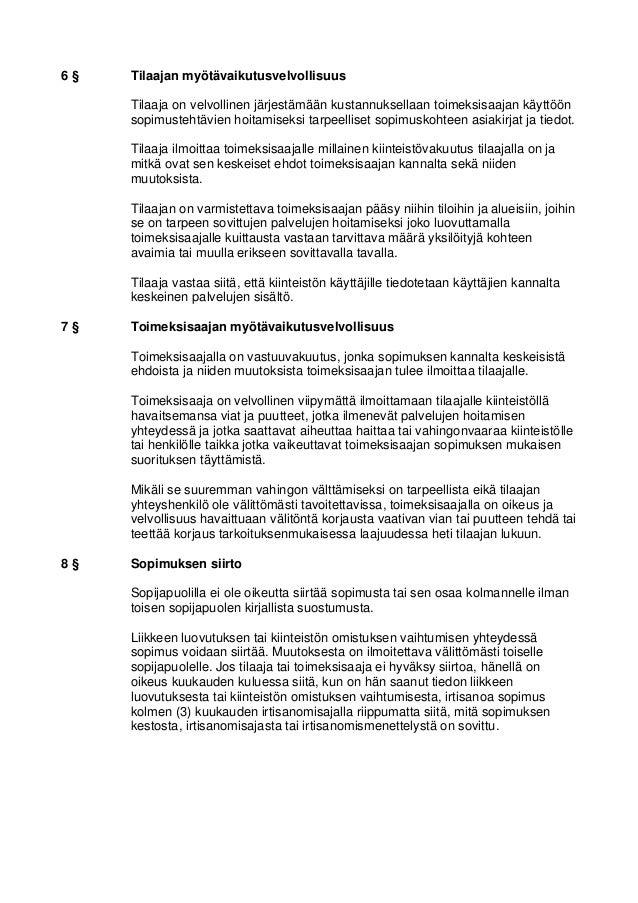 Isännöintipalvelujen yleiset sopimusehdot Slide 2