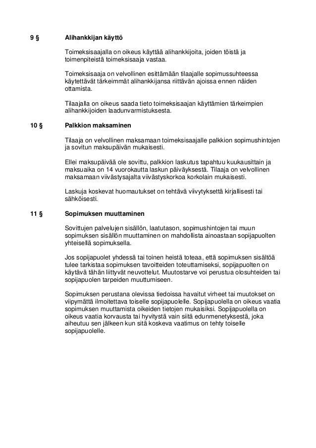 Isännöintipalvelujen yleiset sopimusehdot Slide 3