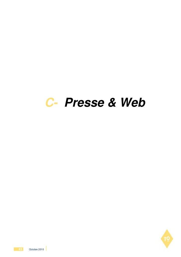 C- Presse & Web43   Octobre 2010