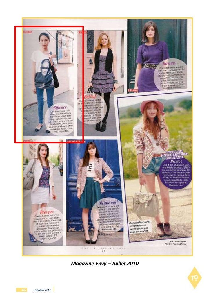 Magazine Envy – Juillet 201046   Octobre 2010
