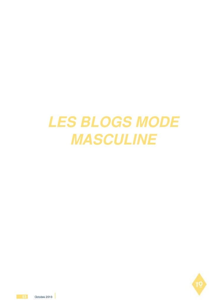 LES BLOGS MODE               MASCULINE53   Octobre 2010