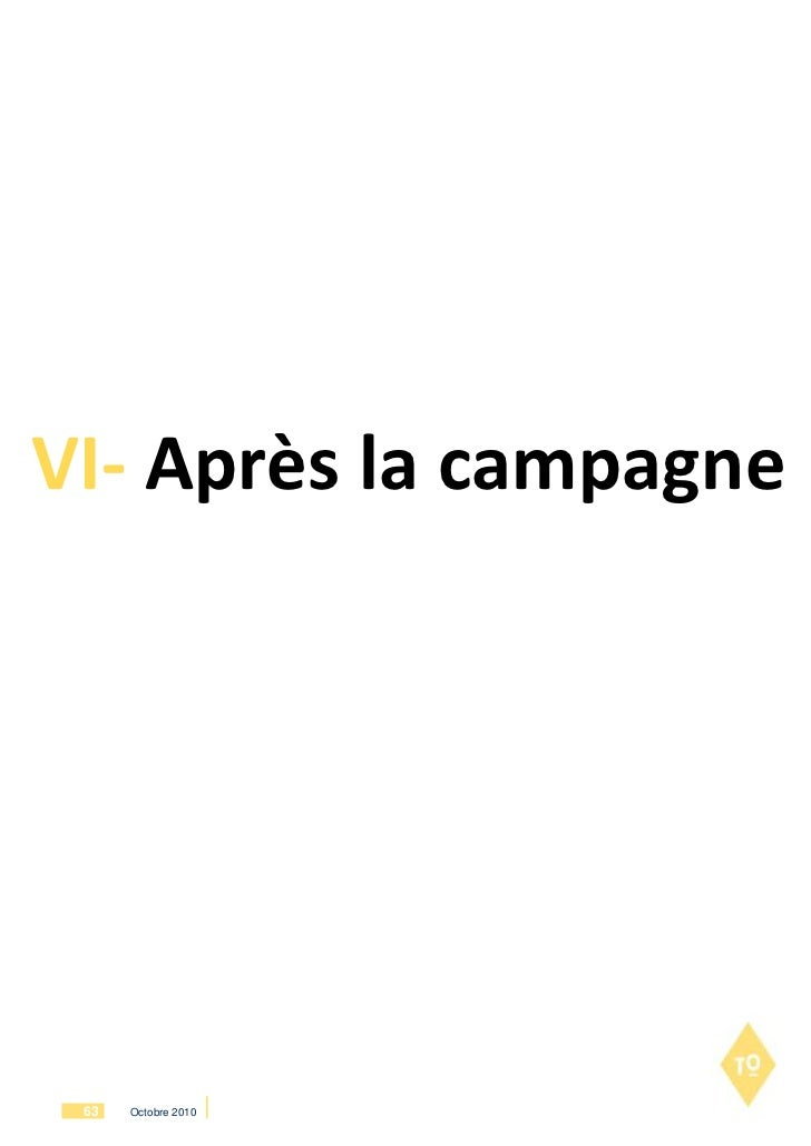 VI- Après la campagne 63   Octobre 2010