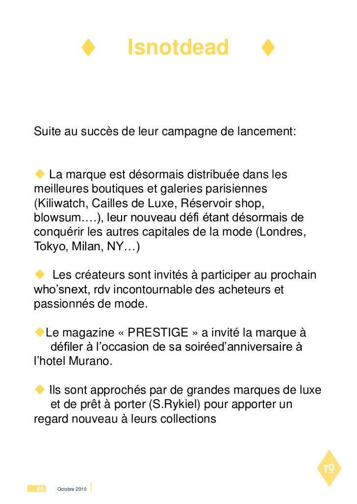 IsnotdeadSuite au succès de leur campagne de lancement: La marque est désormais distribuée dans lesmeilleures boutiques e...