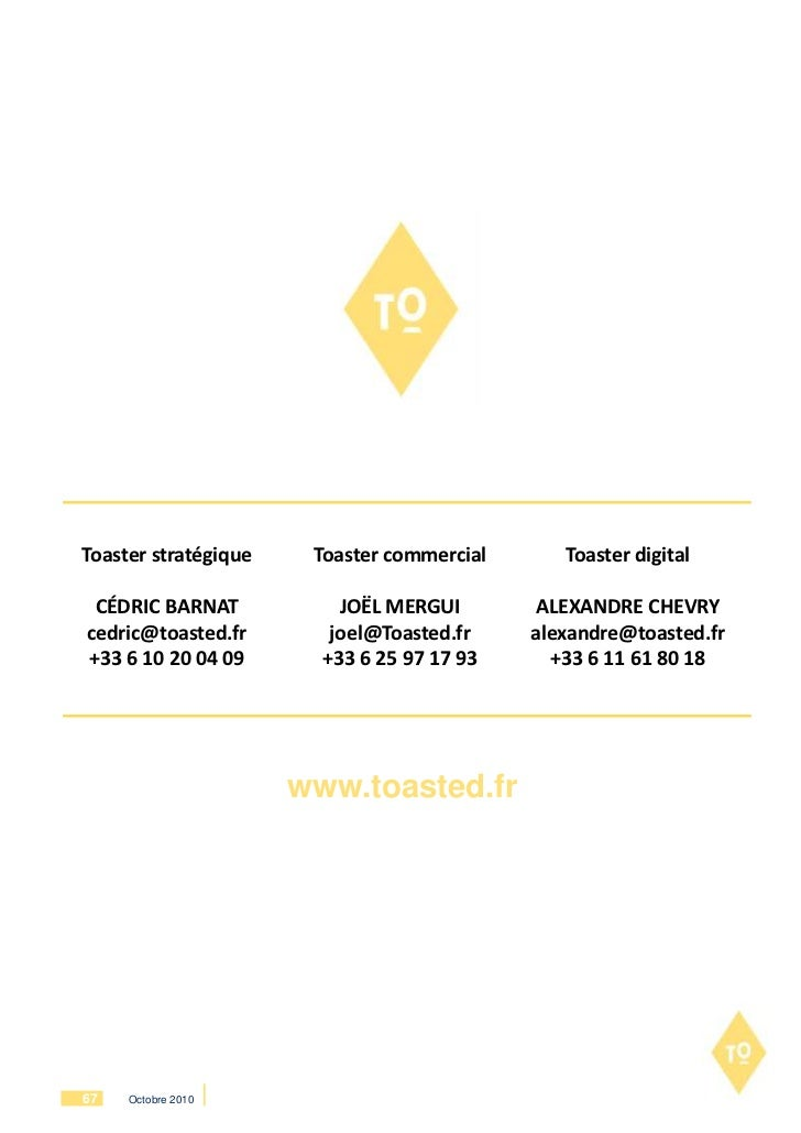 Toaster stratégique    Toaster commercial      Toaster digital CÉDRIC BARNAT            JOËL MERGUI        ALEXANDRE CHEVR...