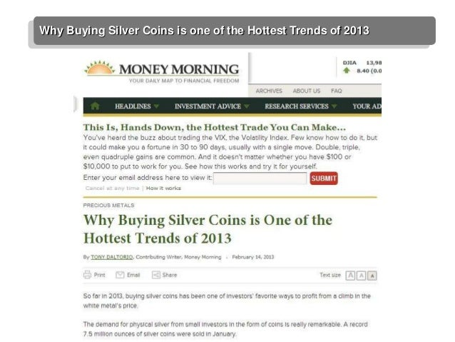 Why Buying Silver Coins is one of the Hottest Trends of 2013