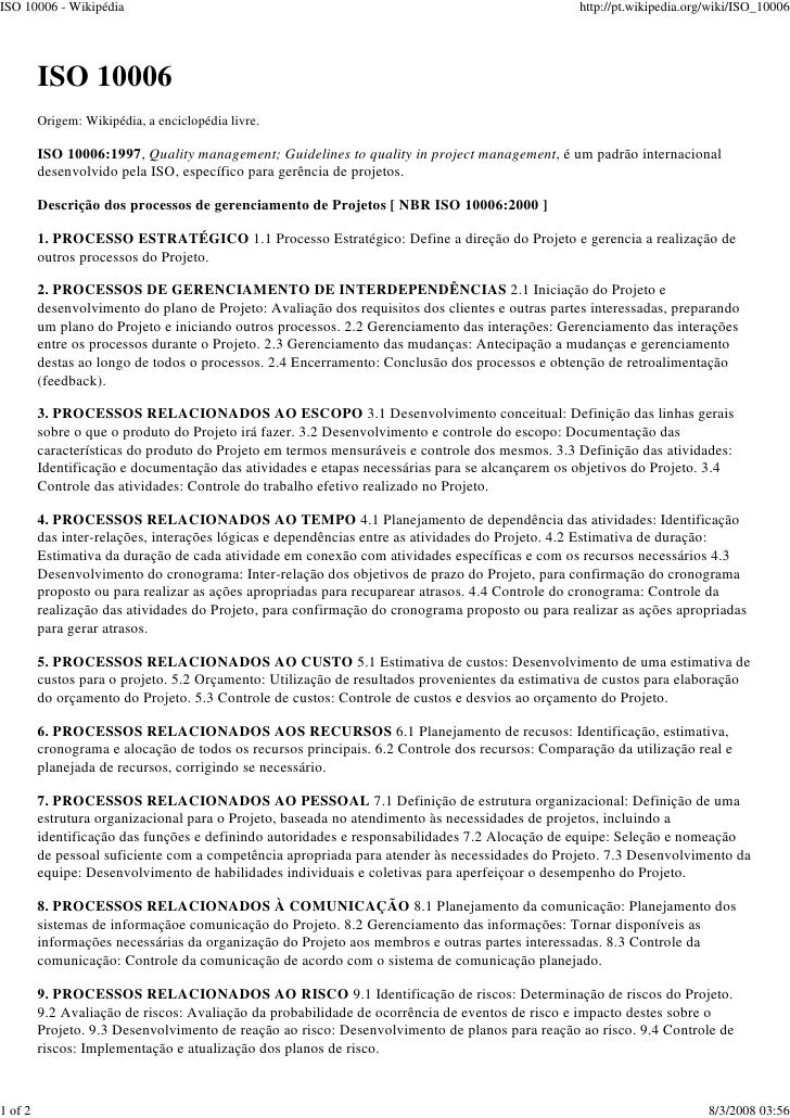 ISO 10006 - Wikipédia                                                                            http://pt.wikipedia.org/w...