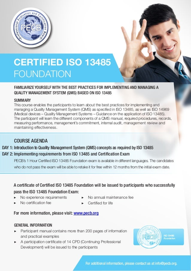 ISO 13485 Foundation - One Page Brochure