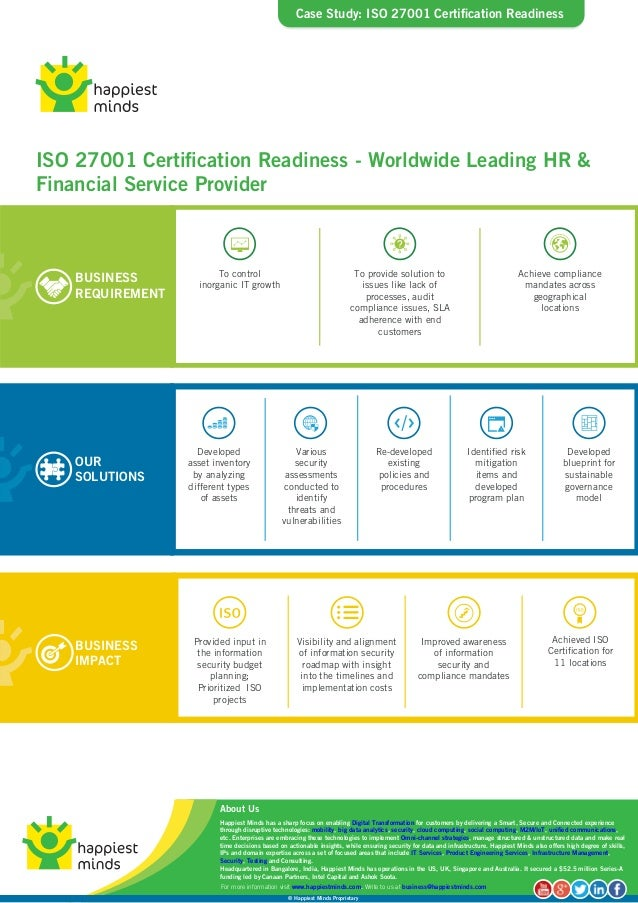 Case Study Iso 27001 Certification Readiness Happiest Minds