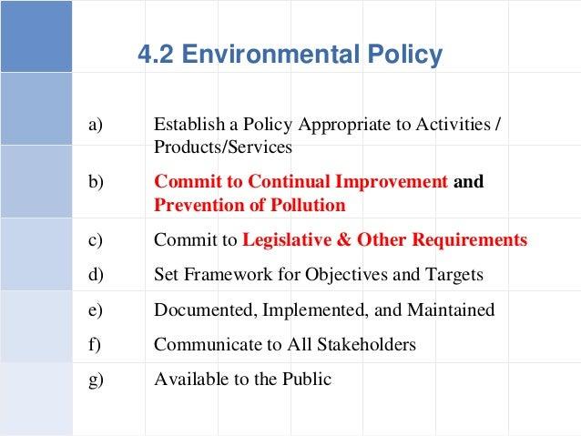 15 a establish a policy