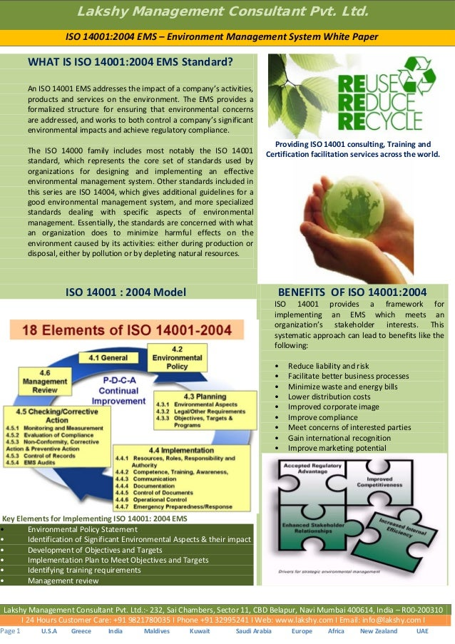 Thesis on iso 14001