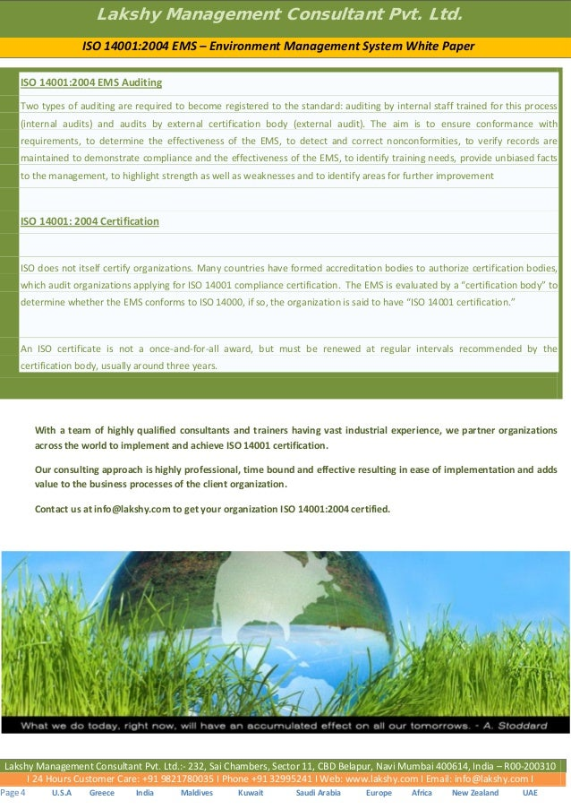 ISO 14000 family - Environmental management