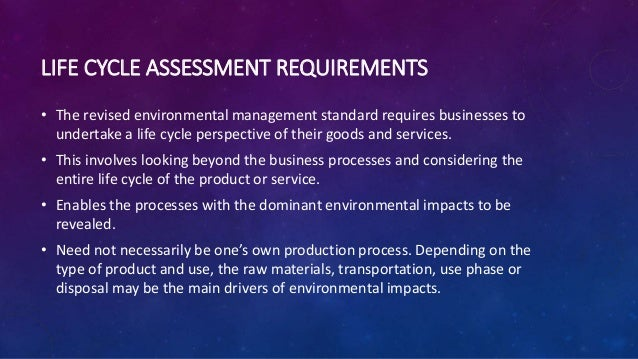 ISO 14001 life cycle assessment Slide 2