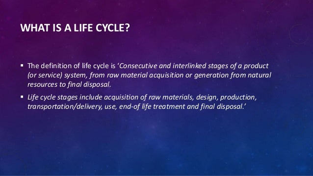 ISO 14001 life cycle assessment Slide 3