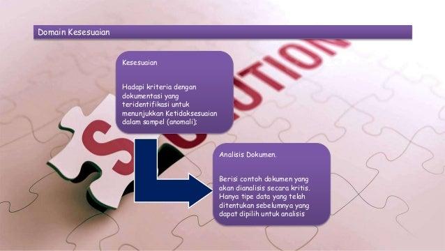 Domain Kesesuaian Kesesuaian Hadapi kriteria dengan dokumentasi yang teridentifikasi untuk menunjukkan Ketidaksesuaian dal...
