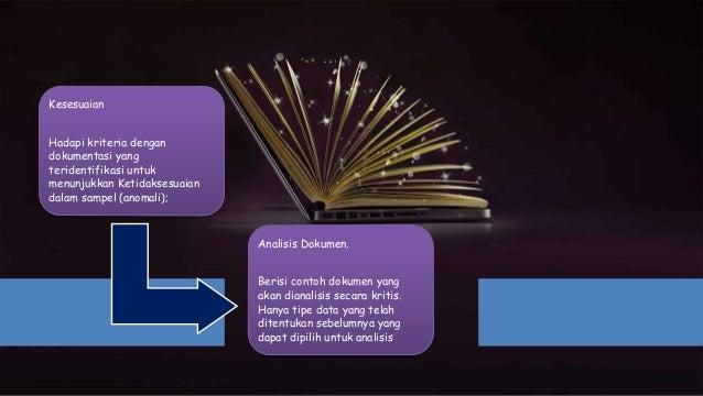 Kesesuaian Hadapi kriteria dengan dokumentasi yang teridentifikasi untuk menunjukkan Ketidaksesuaian dalam sampel (anomali...