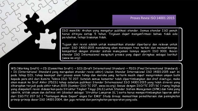 WD (Working Draft) -> CD (Committee Draft) -> DIS (Draft International Standard -> FDIS (Final International Standard) - >...