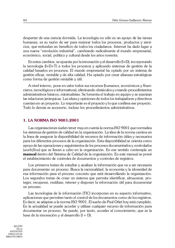 La gestión documental y la norma ISO 15489:2001 Record Management Slide 2