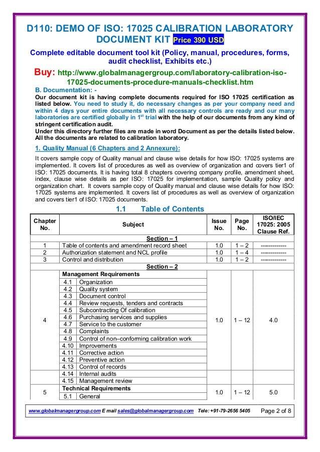 laboratory policy and procedure manual