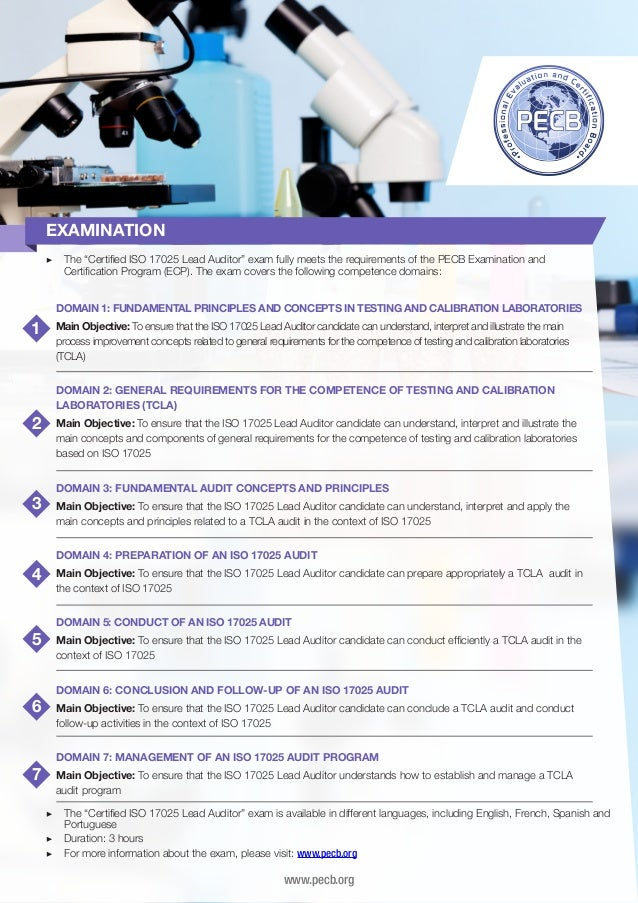 Iso 17025 Lead Auditor Four Page Brochure