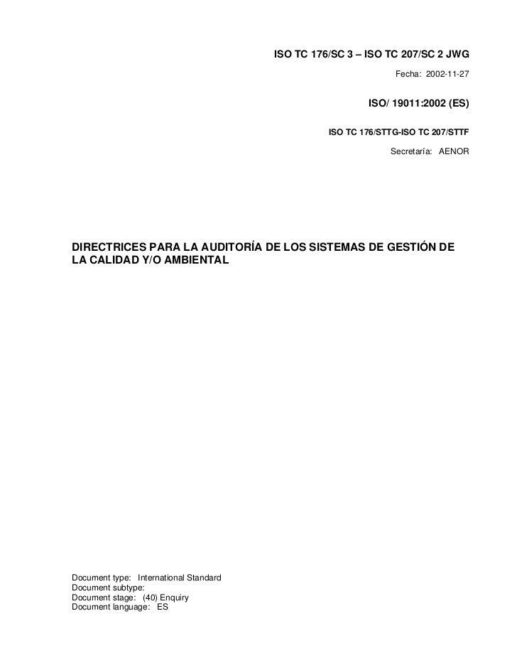ISO TC 176/SC 3 – ISO TC 207/SC 2 JWG                                                                 Fecha: 2002-11-27   ...
