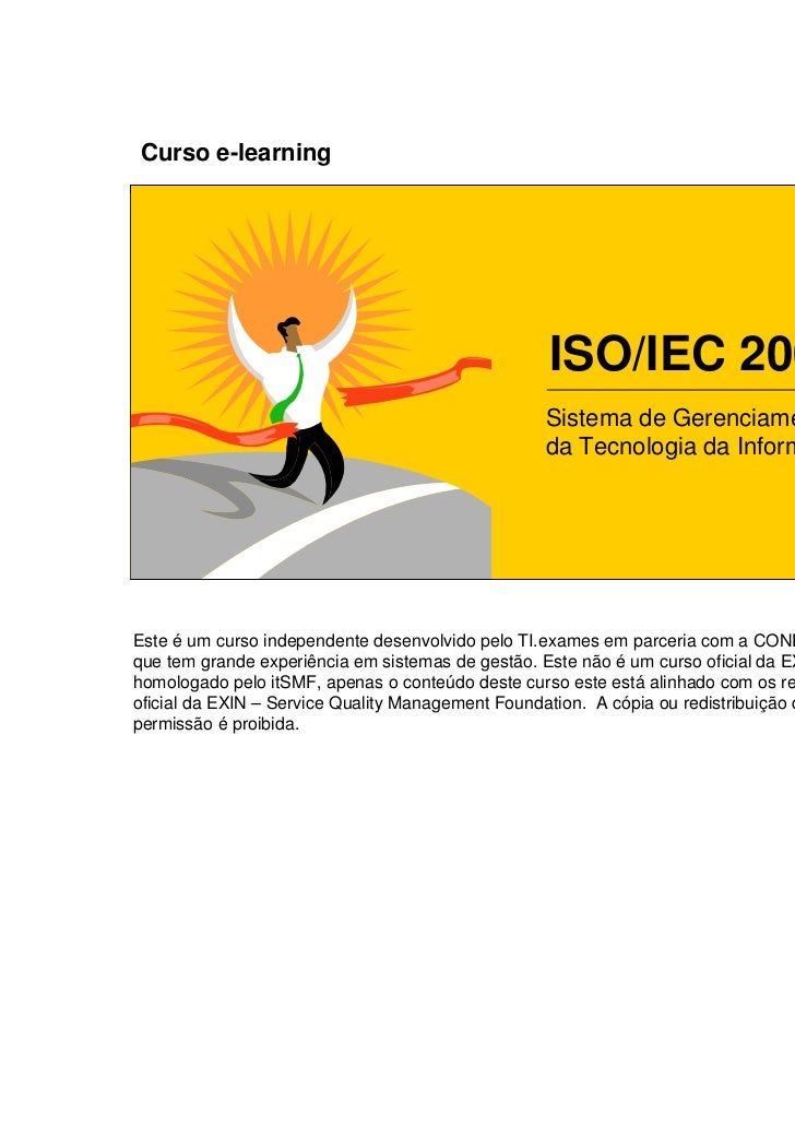 Curso e-learning                                                  ISO/IEC 20000                                           ...