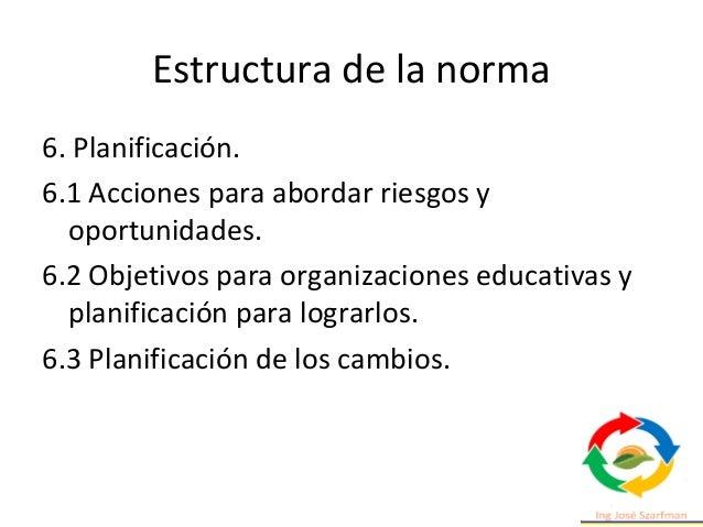 Estructura de la norma 10. Mejora. 10.1 No conformidad y acción correctiva. 10.2 Mejora continua. 10.3 Oportunidades para ...