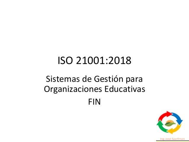 ISO 21001 sgoe