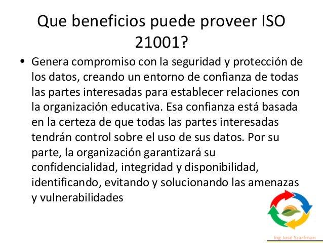 Integración con otros sistemas de gestión Desde ISO se coordina que todas las nuevas normas de sistemas de gestión que se ...