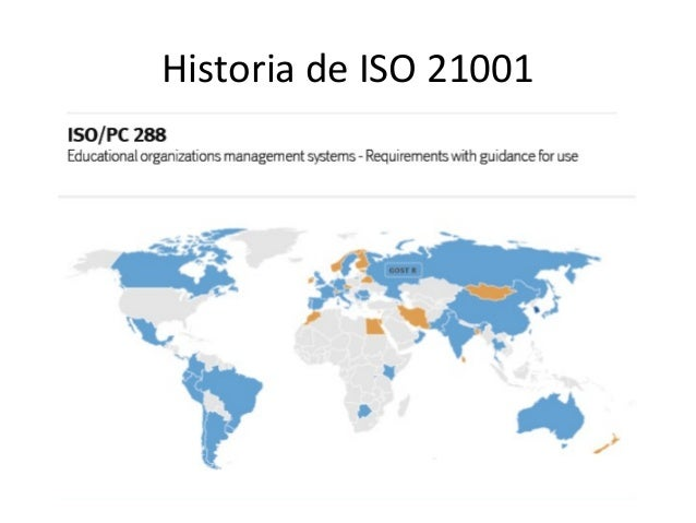 Historia de ISO 21001