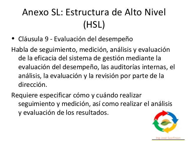 Estructura de la norma • Cumple con la Estructura de Alto Nivel (HLS) y permitiéndole adaptarse a instituciones educativas...