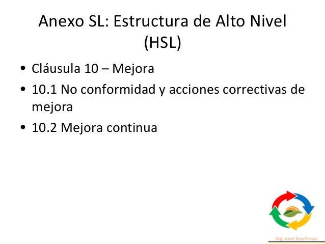 Estructura de la norma 4. Contexto de la organización. 4.1 Comprensión de la organización y de su contexto. 4.2 Comprensió...