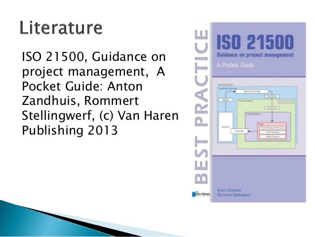 ISO 21500 - Guidance on Project Management Slide 3