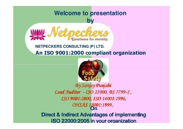 Welcome to presentation by An ISO 9001:2000 compliant organization NETPECKERS CONSULTING (P) LTD. OnOnOnOn Direct & Indire...