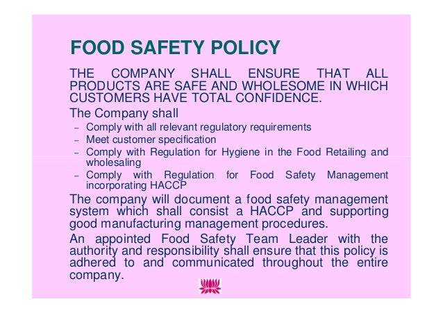food safety essay