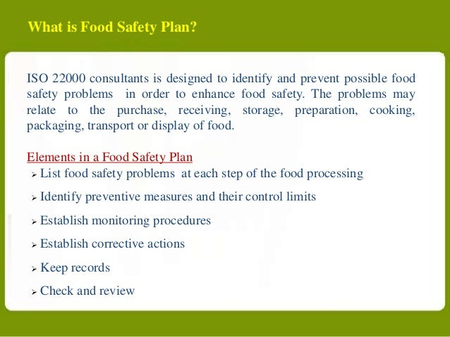 Food Safety Key Requirements