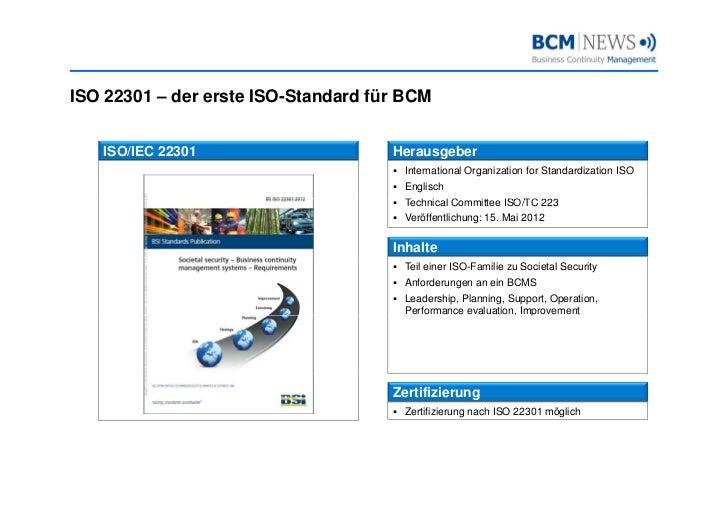Iso 22301 - der neue Standard für Business Continuity Management Slide 2