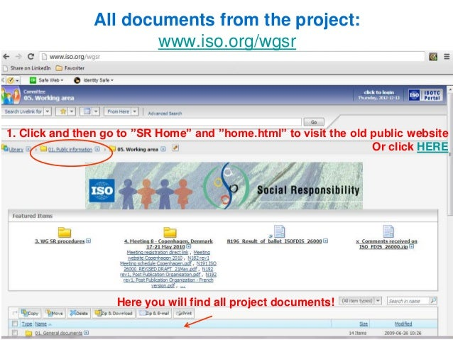 Iso project home page