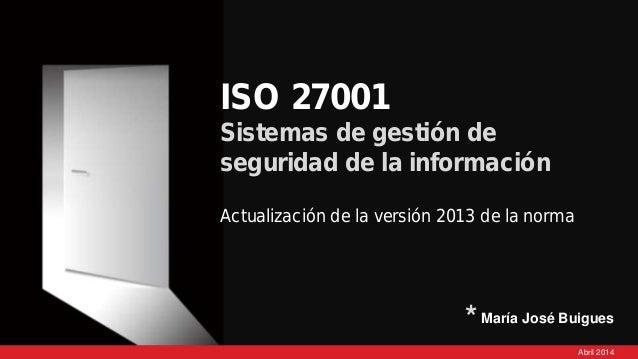 iso 27001 actualizaci 243 n versi 243 n 2013