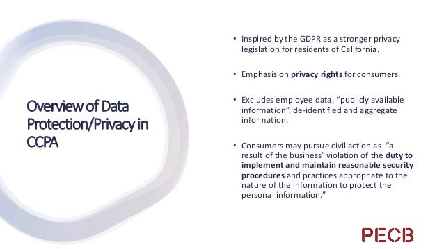 ImplementingCCPA Determine what your organization is: are you a business, service provider, or third party? Have a Privacy...