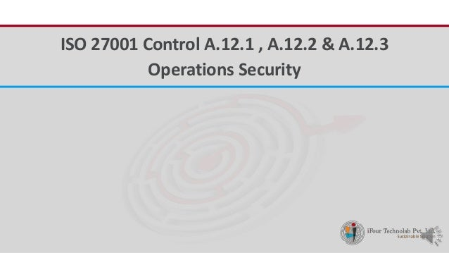 iFour ConsultancyISO 27001 Control A.12.1 , A.12.2 & A.12.3 Operations Security