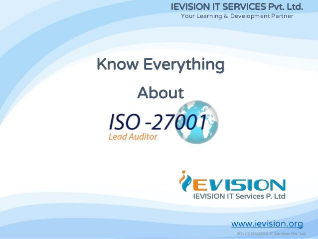 Iso 27001 lead auditor training and certification pdf